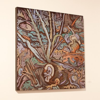 Painting by Susan Tooke, Installation View at Sivarulrasa Gallery in Almonte, Ontario