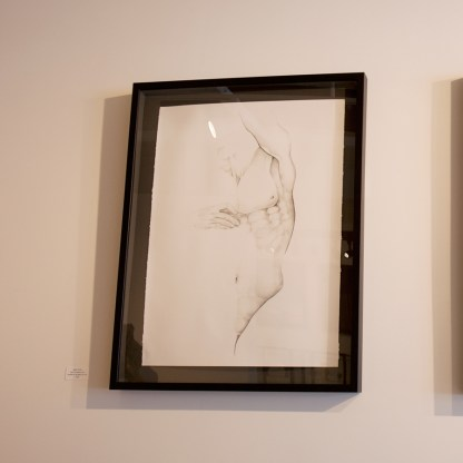 Drawing by Sue Adams, Installation View at Sivarulrasa Gallery in Almonte, Ontario