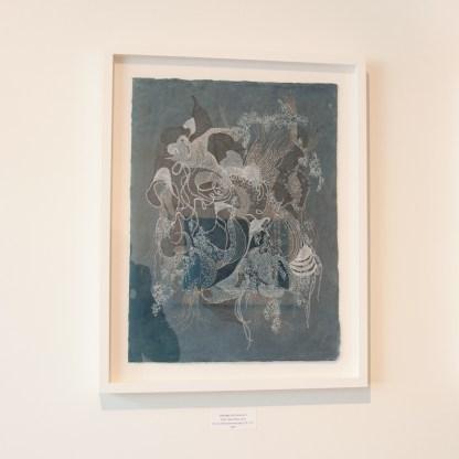 Drawing by Gayle Kells, Installation View at Sivarulrasa Gallery