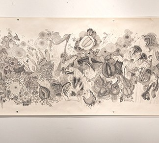 Drawing by Gayle Kells at Sivarulrasa Gallery