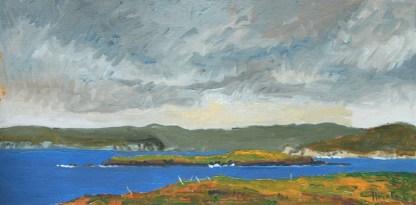 Painting by George Horan at Sivarulrasa Gallery