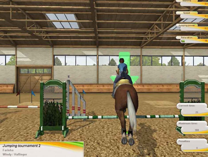 Championship Riding Star Game for PCHorse Games Horse jump training in championship riding star game for PC