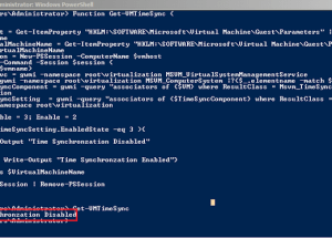 Check Hyper-V Settings for Time Synchronization Status for a Virtual Machine Hosted on a Hyper-V Host