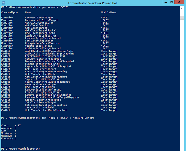 New iSCSI cmdlets in PowerShell V3 Part – 1