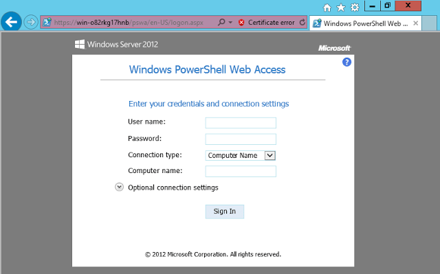 PowerShell WebAccess, Web-Based Windows PowerShell Console