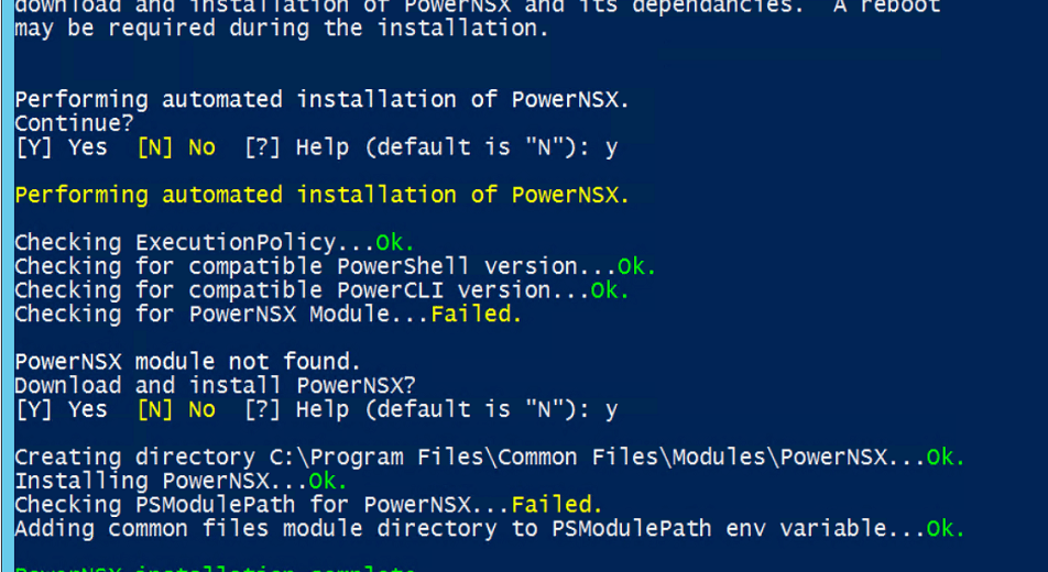 Getting Started with PowerNSX.