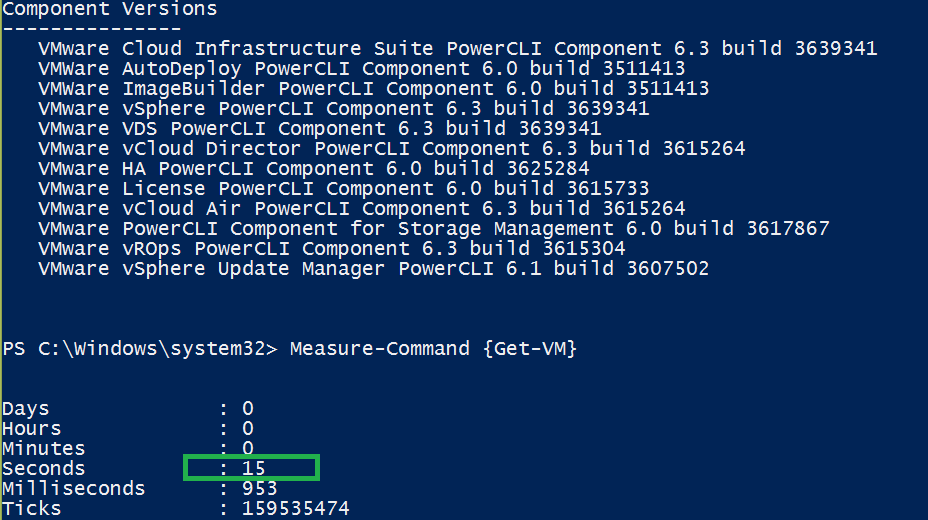 SuperFast Get-VM cmdlet PowerCli 6.3 R1