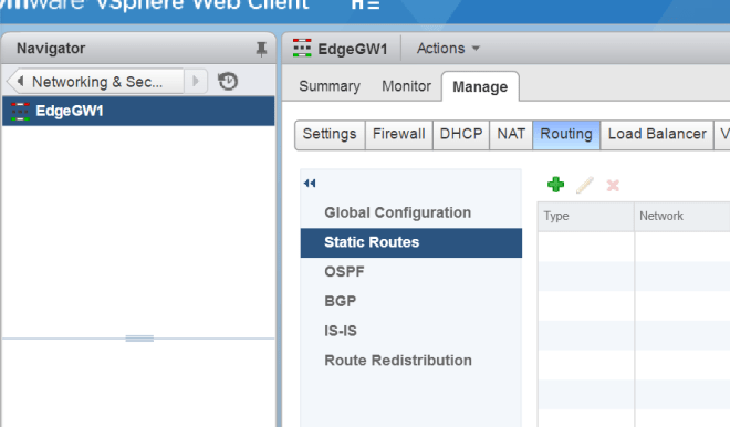 VMware NSX Static vs Dynamic Routing