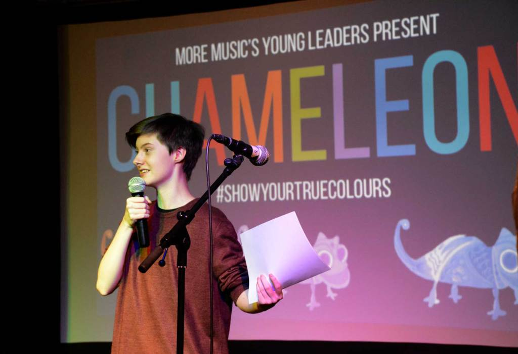 Chameleon producer Reece Clarkson at last year's event at More Music in Morecambe. Image: More Music in Morecambe