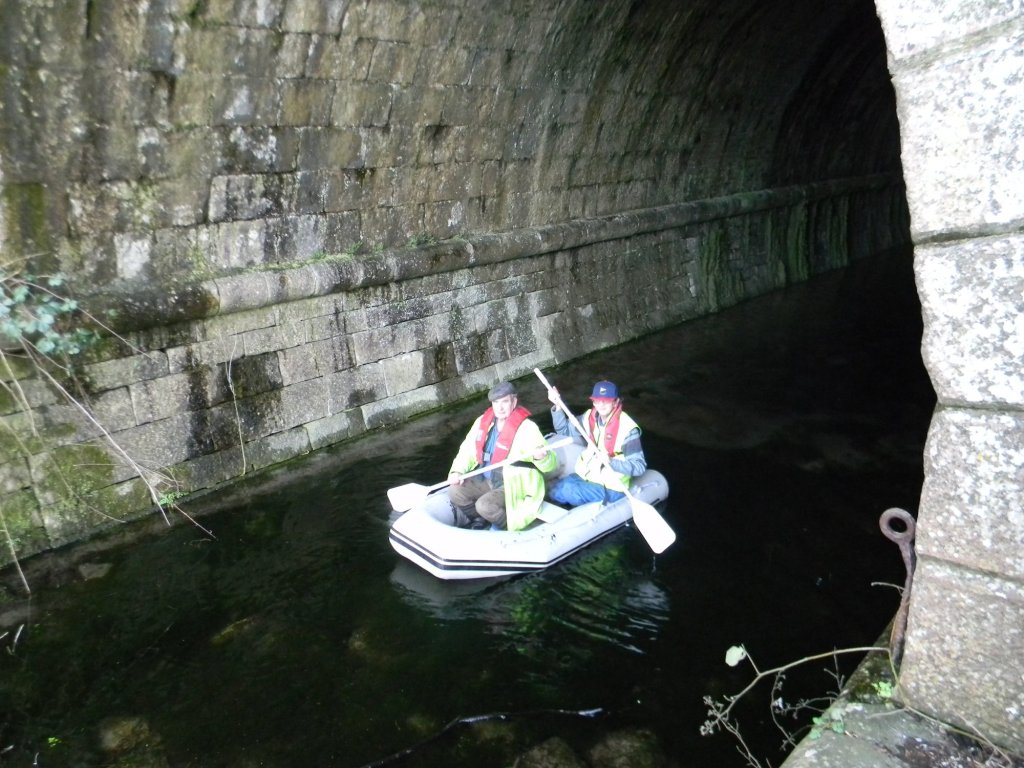Pictured: Keith Tassart and Colin Ogden emerging from Hincaster Tunnel. Photo courtesy Frank Sanderson