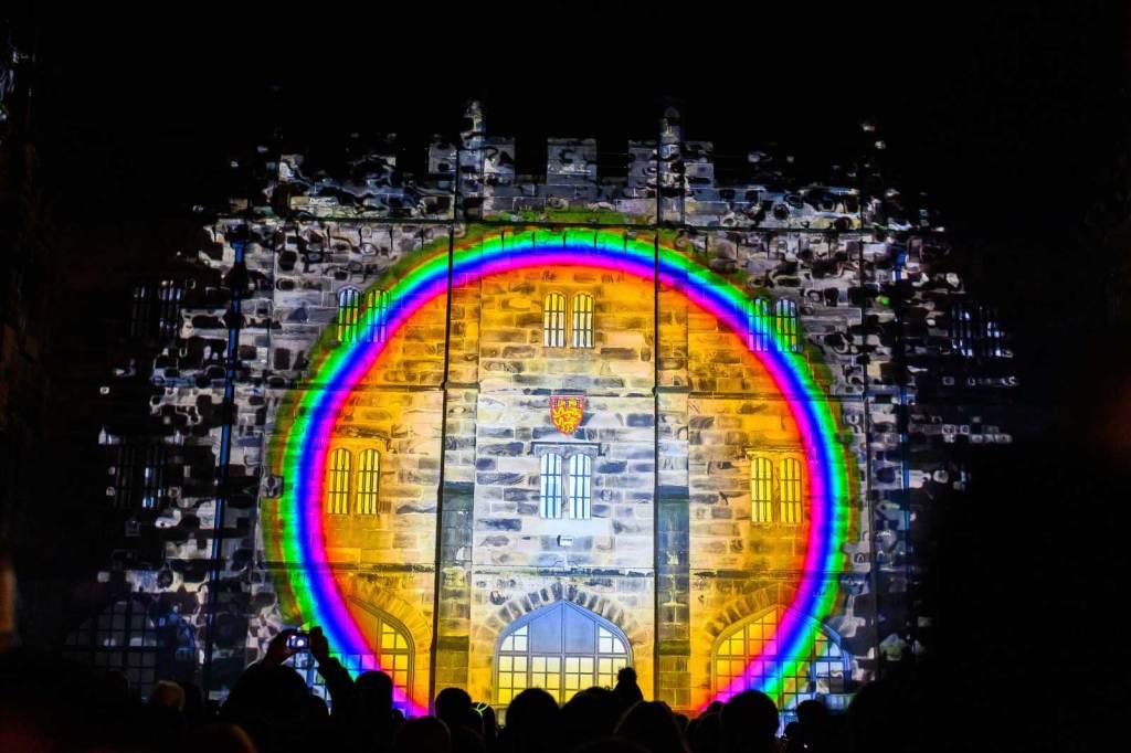 Light Up Lancaster 2019 - Lightscape by Italian arts company, mammasONica. Photo: Robin Zahler