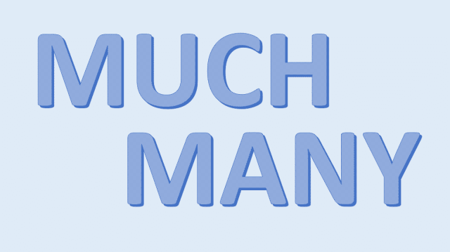 Much and Many