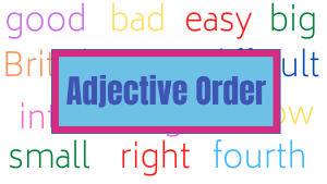 Adjective Order Course Image