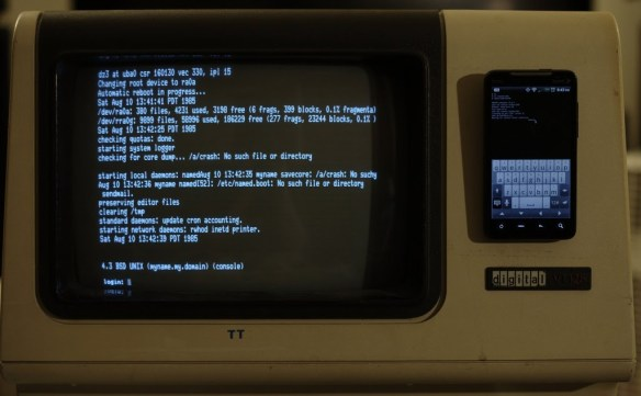 SIMH VAX on a VT100 via Android