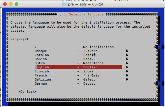 Debian text mode installer