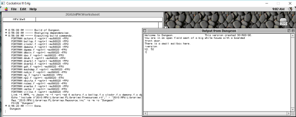 FORTRAN Dungeon 2.5.6 on MacOS