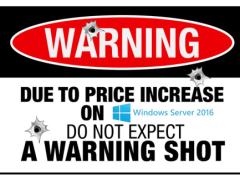 Windows Server 2016 Price Increase
