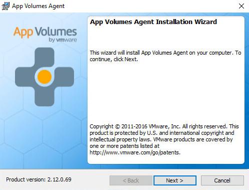 VMware App Volumes 2 12 Agent Install - VirtuallyInclined com