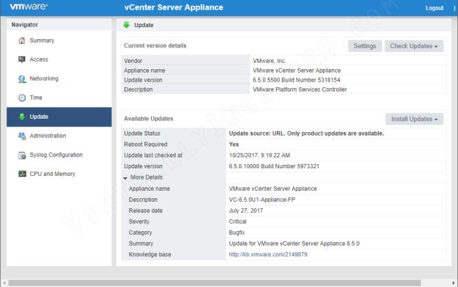 vSphere 6.5 U1 Upgrade