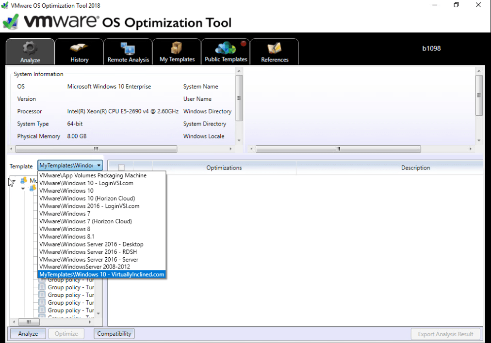Image Building Series - VMware OS Optimization Tool