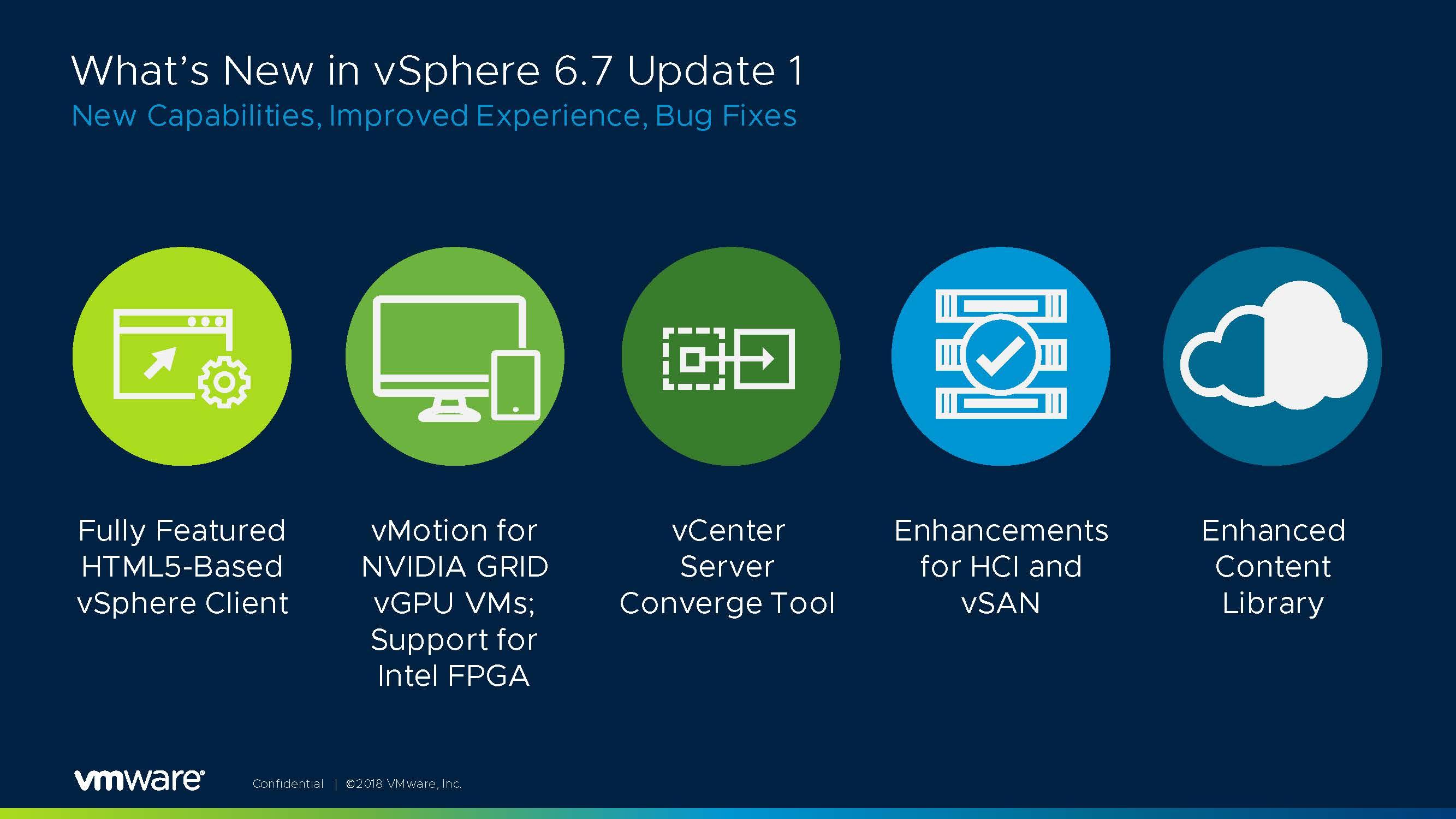 vSphere 6 7 Update 1 & vSphere Platinum Announced