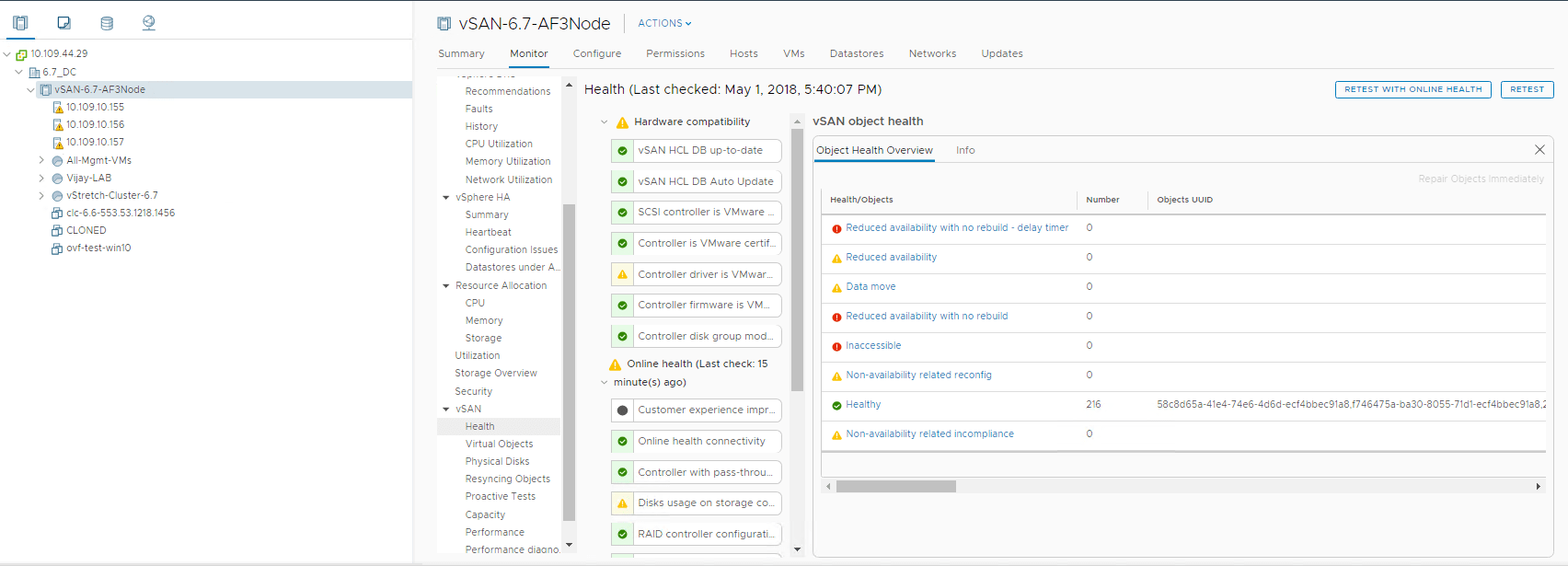 Troubleshoot vSAN Cluster partition ,inaccessible VMs