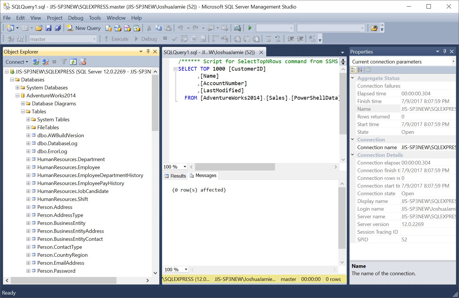 Working with SQL databases using PowerShell – Virtually Sober
