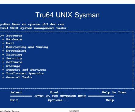 UNIX Sysman