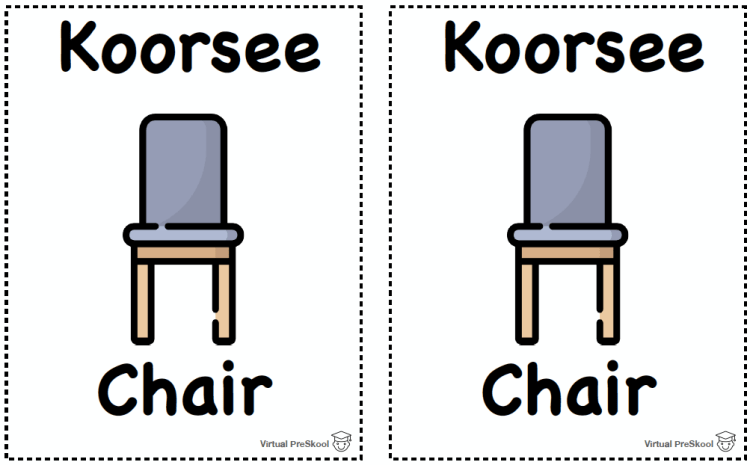 Hindi Matching Game Vocabulary Koorsee