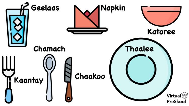 Conversational Hindi Dining Vocabulary