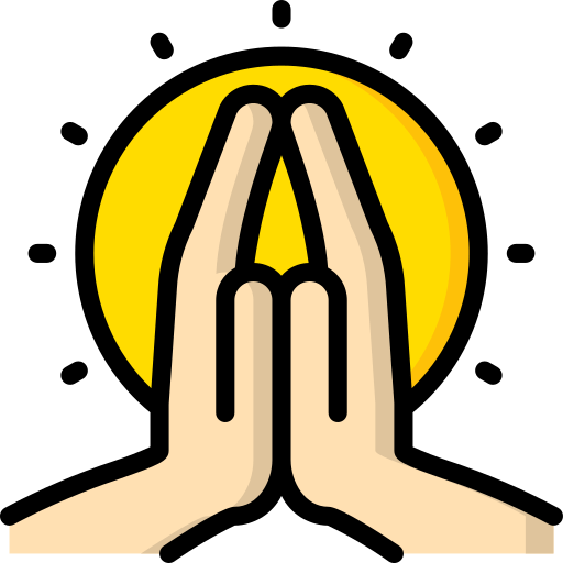 Pranam, greeting to bow down and show respect in Hindi