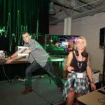 Samantha Mathews DJing at VRTOC2016 - photo by Steve Mann
