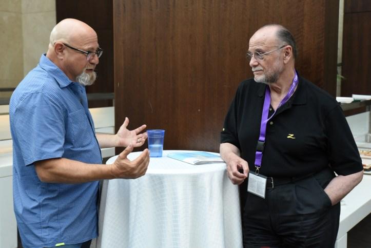 Charlie Fink and Moses Znaimer at VRTO 2017