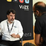 Jeff Miller of HumanEyes' Vuze Camera speaks with Richard Lapham at VRTO 2017
