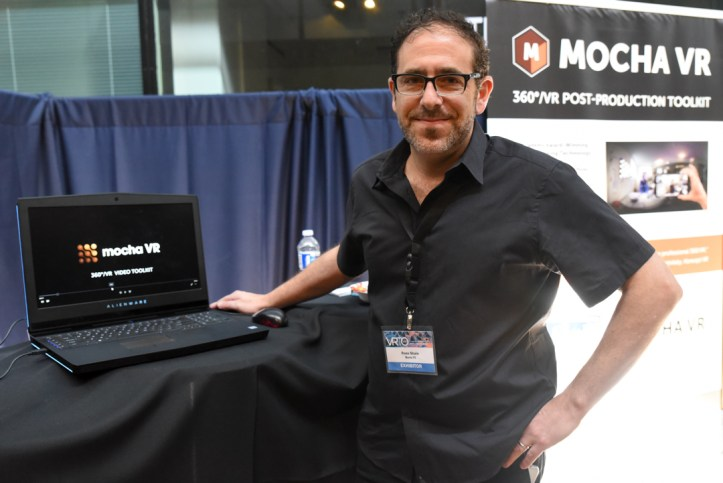 Ross Shane of Imagineer Systems with Mocha VR at VRTO 2017