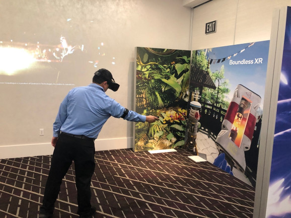 A demo of a Qualcomm XR virtual reality headset