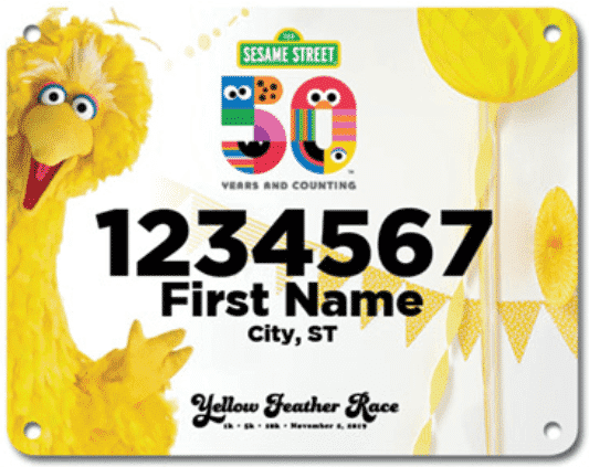Big Bird's Yellow Feather Virtual Race 3