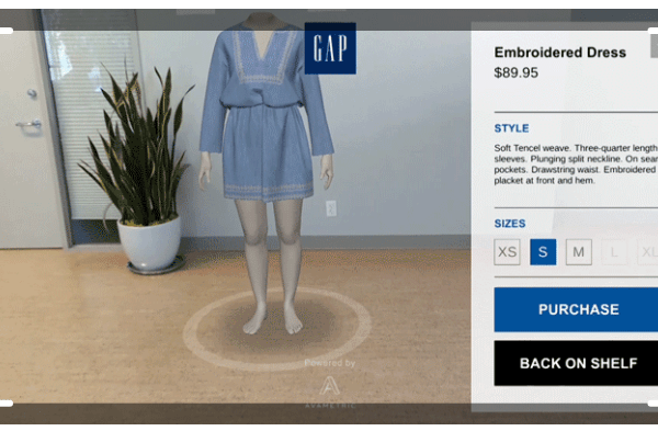 GAP tests new virtual dressing room