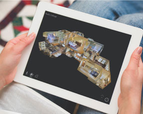 Matterport 3D Virtual Tour viewed on an ipad