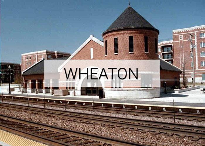 Wheaton City in Illinois