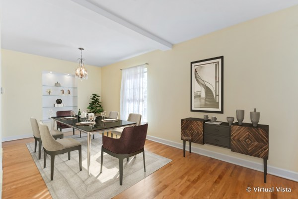 dining room after virtual staging