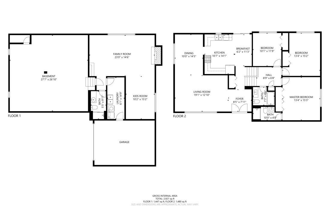 2D Floorplans for real estate