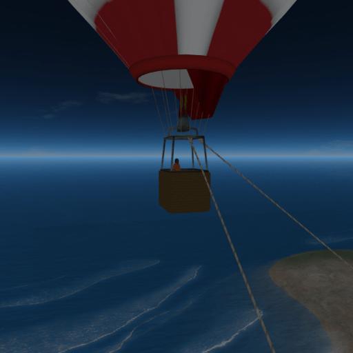 JJIE Virtual World: Enjoying Fresh Air in a Hot Air Balloon on the Beach