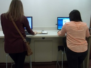 Richmond County Superior Court: Docket Search (Left to Right: Claire Bohrer, Ariel Greenaway)