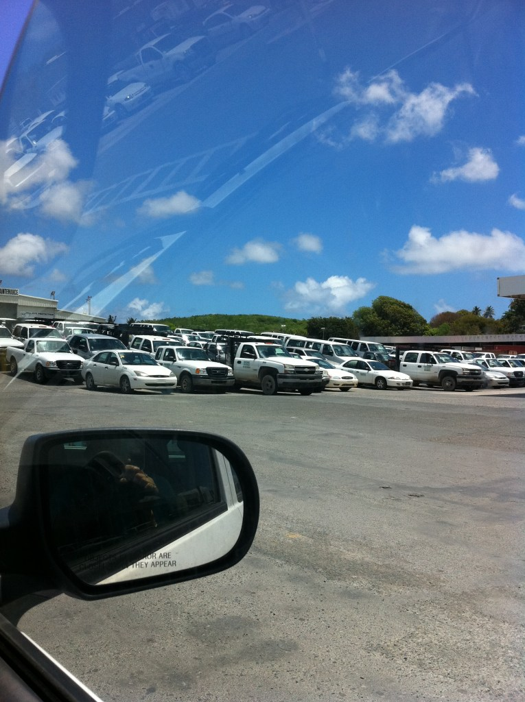 HOVENSA. Parked cars.