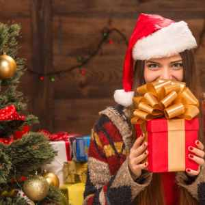 Secret Santa, Gift giving, virtual, zoom, video conferencing, gift event