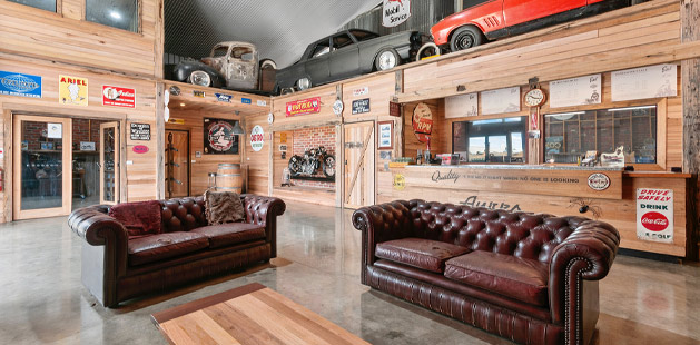 Interior of Ayres Automotive new showroom by Virtue Homes