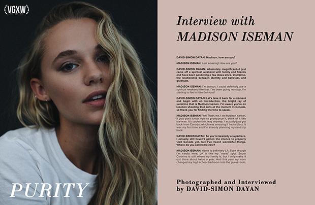 Madison Iseman Interview | VGXW Magazine @ virtuogenix.online