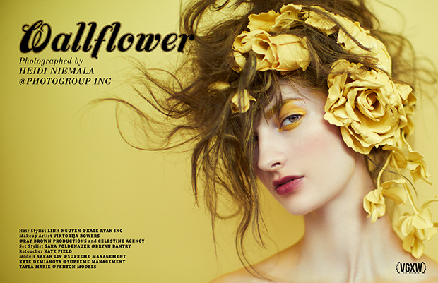 Wallflower: Beauty Editorial by Heidi Niemala for December 2017 Book 2 | virtuogenix.online