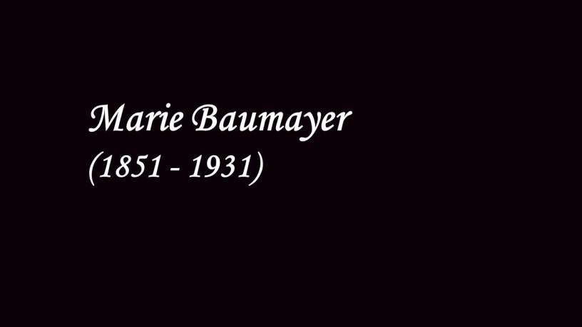 [ca. 1910] Marie Baumayer plays – No.4 Innig (6 Studien in Kanonischer Form, Op.56) – Schumann